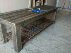 Dallas Cowboy Rustic Loft Table