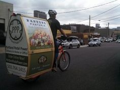 Have your breakfast, lunch, and now dinner delivered by bicycle!