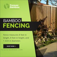 Bamboo Fencing - Garden & Privacy Fences -Buy Now Garden Privacy, Privacy Fences, Garden Fencing, Bamboo Fencing, Fence Panels, Now And Forever, Galvanized Steel, Flexibility, Commercial
