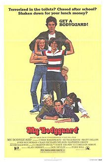 My Bodyguard    Theatrical release poster  Directed by	Tony Bill  Produced by	 Melvin Simon  Written by	Alan Ormsby  Starring	Chris Makepeace  Adam Baldwin  Matt Dillon  Martin Mull  Ruth Gordon  Music by	Dave Grusin  Cinematography	 Michael D. Margulies  Editing by	Stu Linder  Studio	 Melvin Simon Productions  Distributed by	20th Century Fox  Release date(s)	  July 11, 1980