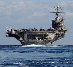 USS Dwight D. Eisenhower (CVN 69) underway in the Atlantic.