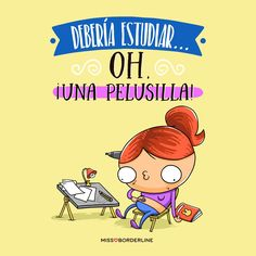 Debería estudiar...Oh, ¡una pelusilla! #funny #humor #divertidas #gracias Cute Quotes, Best Quotes, Funny Quotes, Little Things Quotes, Just Girly Things, Frases Humor, Mr Wonderful, Spanish Memes, Humor Grafico