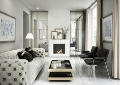 Biokominek EGZUL biały  #kratkipl #biokominek #wnętrze #białe #white #modern