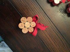 Upcycled vino corcho copo de nieve adornos juego de 3