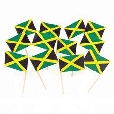 Jamaican Flag Toothpicks   Jamaica   Theme Party Decorations & Supplies