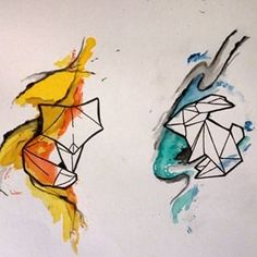 origami fox tattoo - Google Search   Plenty Tattoo Images and ...