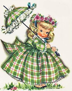 Parasol girl vintage                                                                                                                                                     More