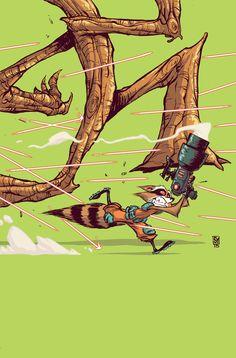 Rocket Raccoon and Groot #3