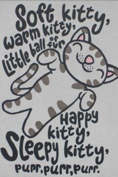 the Big Bang Theory Soft Kitty song lol :)