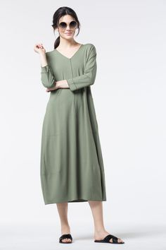 For a bit of luck, don this new OSKA Dress in color Clover.