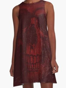Rusty Red  A-Line Dress  by Scar Design #summerclothing #summervacationsdress #beachdress #beach #summerfashion #giftsforher #gifts #giftsforteens #summergifts #womensfashion #hipster #colorful #style #swag #sunset #sunsetdress #dress #summerdress #summer