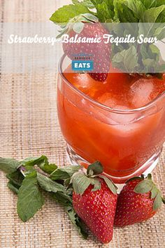 Sweet, ripe strawberries are a natural match for balsamic vinegar. Mixed with fresh lime juice and mint, the combination makes for a refreshingly tart-sweet tequila cocktail you'll want in hand all summer long.
