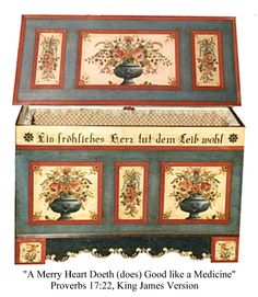 Folk Art Painted Trunk As A Coffee Table Crafts