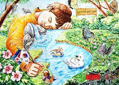 Basic Drawing, Drawing For Kids, Art For Kids, Crayon Drawings, Art Drawings, Desenhos Crayon, Global Warming Drawing, Save Water Drawing, Drawing Competition