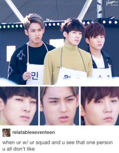 Find images and videos about kpop, funny and Seventeen on We Heart It - the app to get lost in what you love. Woozi, Wonwoo, Jeonghan, The8, Seungkwan, Diecisiete Memes, Funny Kpop Memes, New Memes, Funny Quotes