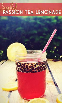 Homemade Spiked Passion Tea Lemonade! A Starbucks favorite you can do at home with a twist!