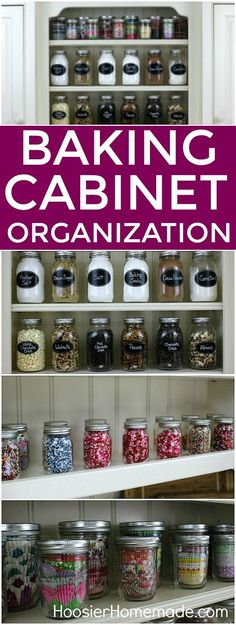 cabinet organization BAKING CABINET ORGANIZATION -- In minutes you can have your baking supplies organized and your finger tips ready to use!