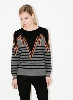 Striped sweater - Sweaters and cardigans - Ready to wear - Uterqüe United Kingdom