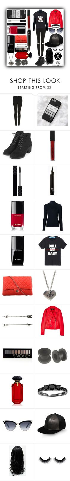 """""""CALL ME BABY : KAI INSPIRED"""" by puffer112 ❤ liked on Polyvore featuring Topshop, Smashbox, Gucci, Chanel, Maison Ullens, Versus, Forever 21, Victoria's Secret, Bliss Diamond and SILENT by Damir Doma"""