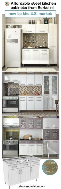 Ikea, move over: Bertolini Steel Kitchens introduces affordable, ready-to-assembly metal kitchen cabinets to the U.S.