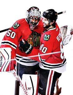 My heroes of Game 5 of the Stanley Cup Finals against the Tampa Bay Bolts Corey Crawford & Antoine Vermette   Chicago Blackhawks