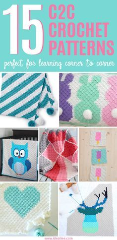 C2C is the latest fad that's taking over the crochet world. To get you hooked on this new trend, here are 15 corner to corner crochet patterns to get you started.