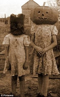 creepy old black and white pics | Black and white: Two woman decide to wear the same monochromatic ...