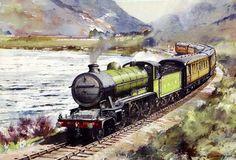 Fine Art Prints of Railway Scenes & Train Portraits - LNER class K2 2-6-0 No. 178 by Brian Lancaster