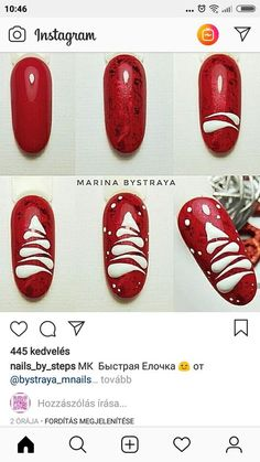 : Nails art designs step by step christmas trees 16 Ideas for .- Nails art designs step by step christmas trees 16 Ideas for 2019 - Xmas Nail Art, Christmas Nail Art Designs, Xmas Nails, Winter Nail Designs, Holiday Nails, Christmas Nails, Christmas Trees, Xmas Tree, Christmas Makeup
