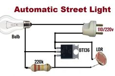automatic street light circuit is circuit that automatic turn on the light in the eveninng. Intelligent street light contror we are going to design a cricut Electronics Projects, Simple Electronics, Hobby Electronics, Electronics Gadgets, Electronic Circuit Design, Electronic Engineering, Electrical Engineering, Led Projects, Electrical Projects