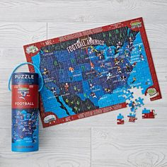 Football Puzzle (200 pc.) and Matching Poster | The Land of Nod