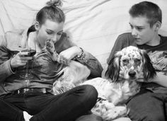 Family portrait : me, my dog #izio and my bro ! #englishsetter