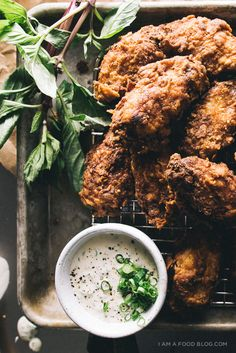 buttermilk fried chicken wings. hot or cold, these guys are crunchy and juicy. summer picnics, here we come.