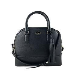 Kate Spade New York Carli Mccall Street Leather Satchel in Black