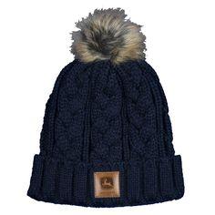 ac42bcb3ffdb7 John Deere Winter Sweater Knit Hat with Faux Pom Pom John Deere Hats