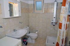 corfu luxury apartment no 34 santos, bathroom Corfu Apartments, Luxury Apartments, Corfu Island, Holiday Apartments, Luxury Holidays, New Builds, Studios, Vacation, Bathroom