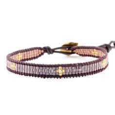 Chan Luu - Purple Mix Single Wrap Bracelet on Natural Dark Brown Leather, $70.00 (http://www.chanluu.com/bracelets/purple-mix-single-wrap-bracelet-on-natural-dark-brown-leather/)