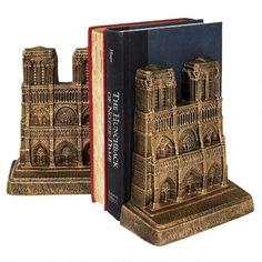 Notre Dame of Paris Sculptural Bookends