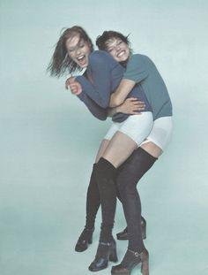 annie morton and milla jovovich for D la repubblica delle donne october 1996