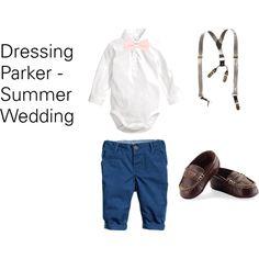 Baby Clothes Summer Wedding by marychu, via Polyvore #babyboy #fashion #casualweddingoutfit