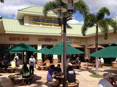 Piilani Village shopping center food court in Kihei Maui