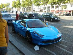 Iridescent Blue Ferrari 458, Paris [OC] [3264x2448]