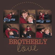 Love how simple this is Scrapbooking Layouts, Scrapbook Pages, Kids Pages, Brotherly Love, 4 Photos, Cool Cards, Paper Cutting, Caribbean, Mosaic