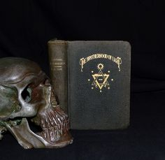 """Titled """"Esoteric Psychology"""", this is one of the books included in C.C. Zain's series of 21 books he wrote after founding the """"Brotherhood of Light"""". A  true 1st edition printed in 1936, and published by the Church of Light in Los Angeles.  The group's golden insignia embossed on the front cover is full of occult symbolism. Several illustrations are included throughout the text, including astrological charts, and crudely drawn esoteric designs at the beginning of each lesson."""