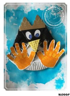 PINGOUIN EPIPHANIE Assiette en carton DIY bricolage maternelle