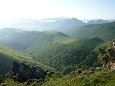 Durch die Pyrenäen. Der Camino.