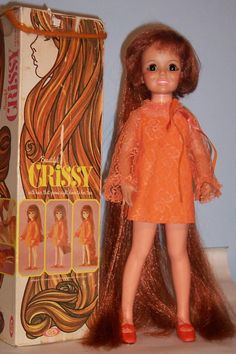 I have lots more Crissy family dolls listed. Crissy is not being sold as mint. Hair to Floor Crissy doll wearing her original. Crissy is clean -. orange lace dress, orange panties. carefully - condition hair when necessary. | eBay!
