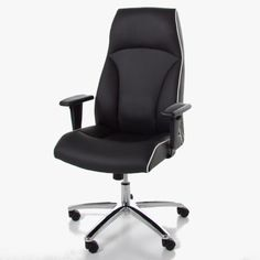 The Actona Pedro Desk Chair is a contemporary office chair Black faux leather padded seat White faux leather pipping Adjustable arm [. Contemporary Office Chairs, Contemporary Furniture, Study Office, Home Office, Julia Jones, Black Office Chair, Desk Light, Desk Chair, Black Faux Leather