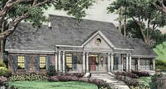 The elegant front porch welcomes visitors with the tall 10 foot ceiling.  The greatroom has a raised 13-3 ceiling and the remaining area of the home has 9' ceilings.