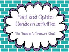 Free Activities for Fact and Opinion!!